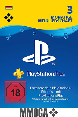 PSN Karte 90 Tage 3 Monate Playstation Plus Network - Download Key PSN Card [DE]