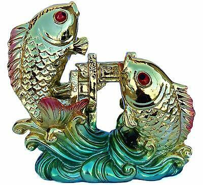 Feng Shui Chinese Carps lucky fish  golden fish Jump over Dragon Gate Statue