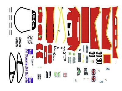 #30 Ueno Clinic McLaren F1 1/24th - 1/25th Scale Waterslide Decals