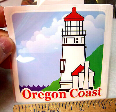 Lighthouses of the Oregon Coast, peel & stick decal, great souvenir for Car, RV