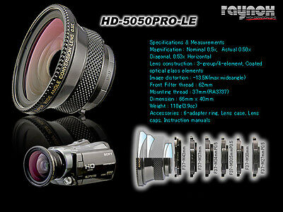 RAYNOX HD-5050PRO-LE 0.5X WIDE ANGLE 37MM BLACK