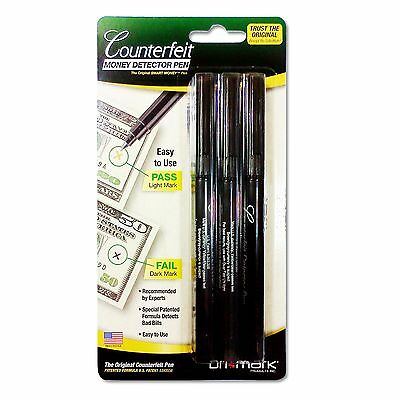 DriMark Smart Money Counterfeit  Bill Detector Pen 3513B1 Brand NEW  3 Pack