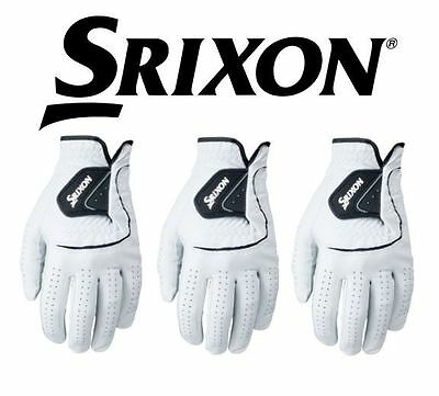 3 PACK Srixon Cabretta Leather Golf Gloves Left Hand (Right Handed Golfer)