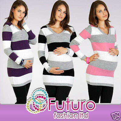 Women's Maternity Jumper Extremely Soft Tunic Style V-Neck Cardigan FR01