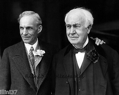 Henry Ford And Thomas Edison 8X10 Bw Glossy Photo 1927