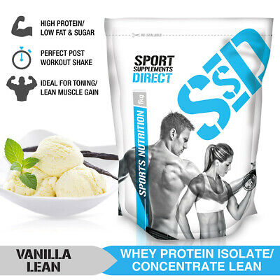 3Kg Vanilla Lean Whey Protein Isolate / Concentrate - Lean Wpi / Wpc 3 X 1Kg
