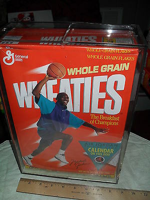 WHEATIES - MICHAEL JORDAN  #83 (1) SEALED 1989 CEREAL BOX w/ CASE *RARE / LQQK*