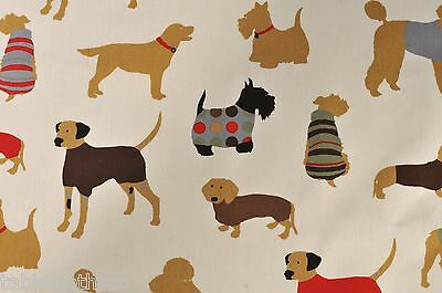 DOGS FABRIC  PVC OILCLOTH WIPE CLEAN WIPEABLE TABLECLOTH CO click for sizes