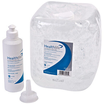 Healthlife Ultrasound Gel - 5 Litres with FREE 250ml Refill Bottle