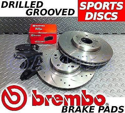 X-Type 2004-2010 Drilled & Grooved FRONT + REAR Brake Discs BREMBO Pads Jaguar