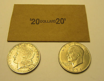 50 Coin Wrappers For Morgan Peace Eisenhower Ike Silver Dollar Coins Paper