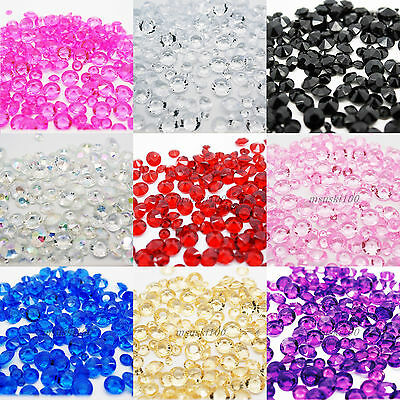 Diamond Table Confetti Crystal Decoration Scatter Acrylic Beads Wedding Party