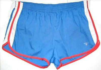 VINTAGE OCEAN SWIM SUIT BLUE WITH RED & WHITE SIDES USA SIZE XL 1980's