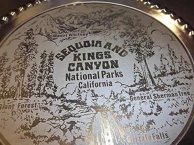 Sequoia and Kings Canyon National Park California collectors metal plate unique