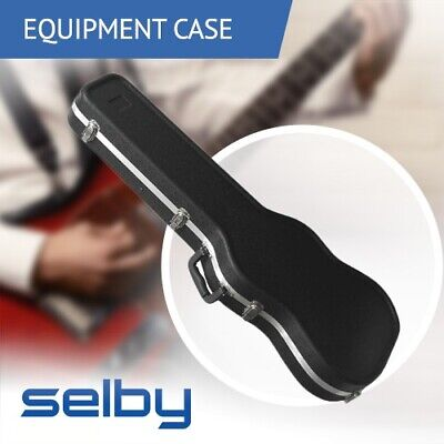 Key Lockable ABS Hard Guitar Case Black for Electric Guitar