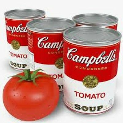 6 Campbell's Tomato Soup  10 Ounce Cans
