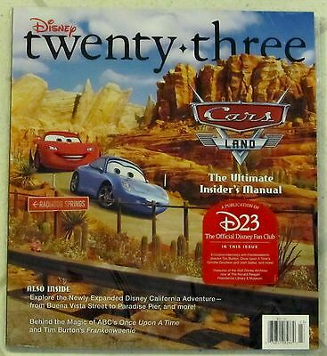 DISNEY Twenty-Three 23 FALL 2012 Tim Burton CARS LAND Ultimate INSIDER'S MANUAL