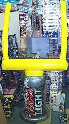 Coors Light Inflatable NFL Football Goal Post Super Bowl Man Cave Decoration