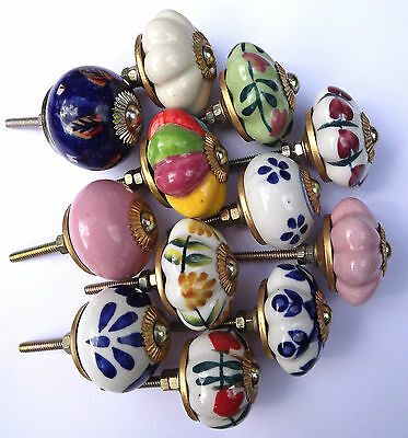 porcelain ceramic kitchen  cupboard and wardrobe door knobs 12 types