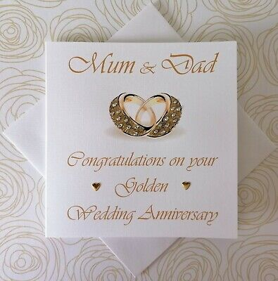 Hy Golden Wedding Anniversary Personalised Card Husband Wife 1st