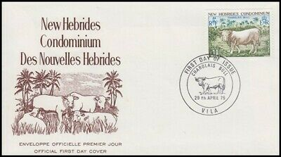 NEW HEBRIDES 1975 CATTLE 10f FDC