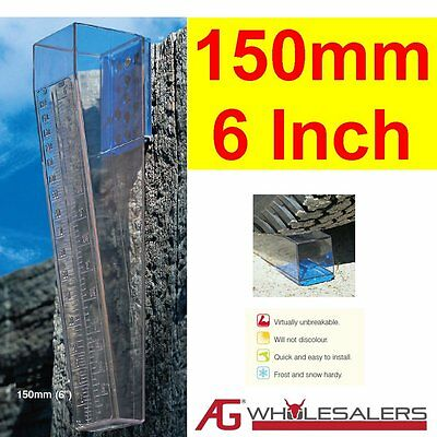 Rain Gauge - Lifetime W'ty - Will Not Go Yellow - 150Mm Aus Made Professional
