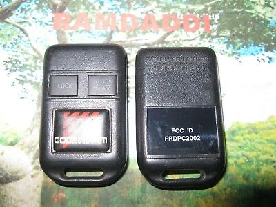 Code Alarm Aftermarket Remote GOH FRDPC2002 Transmitter 2 Button Key Fob