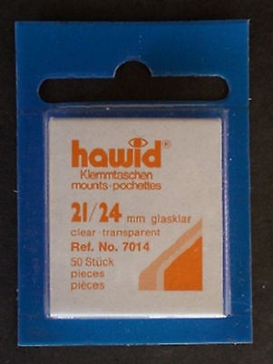 Hawid Stamp Mounts Size 21/24 CLEAR Pack of 50