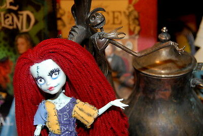 OOAK  Monster High Custom Painted Sally Nightmare Before Christmas Doll