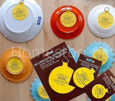 Plate Disc Invisible Picture Hanging Sticky Back On Hook Hanger Self Adhesive