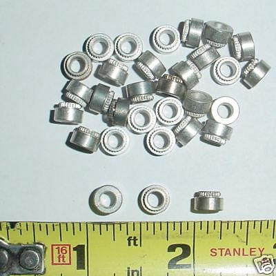 """25 ea .140 ID x .125"""" Thk Clinch Spacers CAD"""
