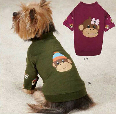 Monkey Business Mock T-Shirt Dog Tee East Side Collection XXS-XL Pet Top