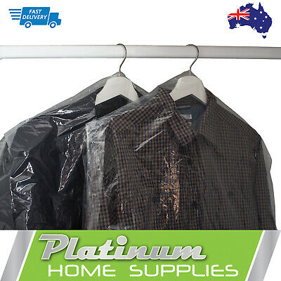 New Plastic Covers Bags Dry Cleaning Garment Clothes Storage Suit Bag Cover
