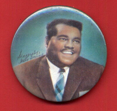"Fats Domino 1950's Vintage Color 2 1/2"" Pinback Photo Button SCARCE SEE"