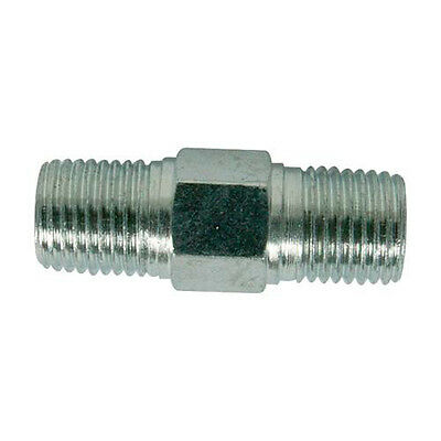 Air Line Equal Union Connector - 6mm (1/4  Inch) BSPT -40mm Length- Zinc-Plated