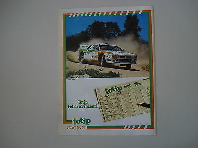advertising Pubblicità 1984 TOTIP E LANCIA RALLY 037