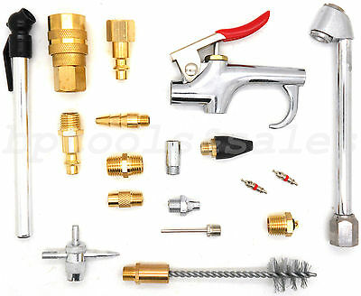 18pc Pneumatic Air Tool Accessory Blow Gun Set Air Compressor Blow Kit Set