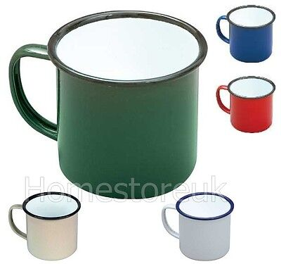 8Cm Enamel Mug For Home Camping & Travel Tea Coffee Cup Traditional Style Colour
