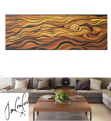 original Art Painting Modern Abstract COA  Australia landscape not aboriginal