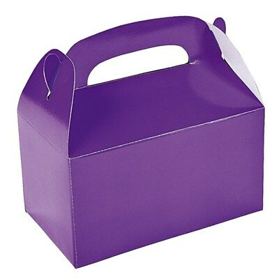 Purple Party Supplies Lolly Treat Favour Cake Boxes (Pack Of 6)