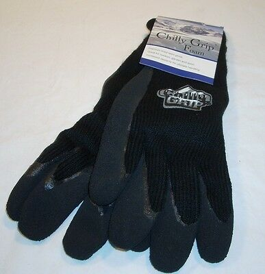 Red Steer Mens Black Chilly Grip Gloves Work Hunting Fishing New