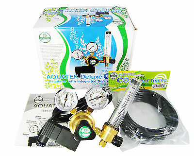 **New** Deluxe AQUATEK CO2 Regulator Emitter System for Hydroponics