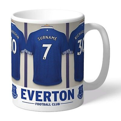 Personalised EVERTON Football Club FC Dressing Room Mug Gift