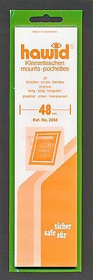 Hawid Stamp Mounts Size 48/210 CLEAR Background Pack of 25