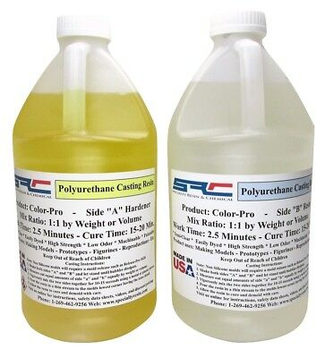 1 Gallon Color-Pro Polyurethane Casting Resin + 1 oz of Pigment (Free Shipping)