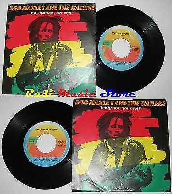 """LP 45 7"""" BOB MARLEY Wailers 1974 Lively up yourself / no woman cry WIP 26219 cd"""