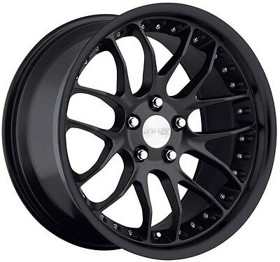 18 Staggered Mrr Gt07 Wheel/tires Package 5X120 Black Rim Fits Bmw 335 2006-2011