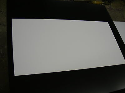 "White Styrene Polystyrene Plastic Sheet .020"" Thick 6"" X 12""  Matt Finish"