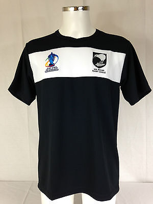 "NEW ZEALAND  ""RL WORLD CUP"" TRAINING TEE.""ISC"" RRP £29.99. Rugby League S to 4xl"
