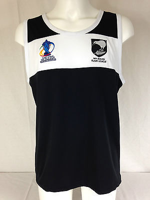 "NEW ZEALAND  ""RL WORLD CUP"" TRAINING SINGLET.""ISC"" RRP £29.99. Rugby League."